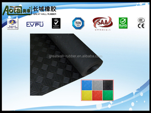 horse checker rubber mat 3mm thickness 1400mm width widely used for corrider and truck made in Sanhe Great Wall Rubber