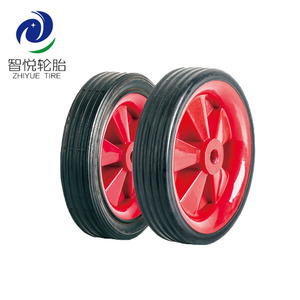 6 inch natural solid wheel/handtruck truck wheel/parts wheels for trolley
