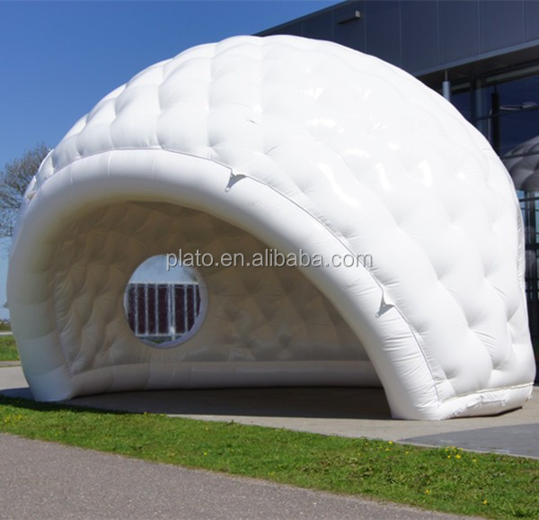 Party /wedding large white inflatable half moon tent /half projection dome tent for event & Party /wedding Large White Inflatable Half Moon Tent /half ...