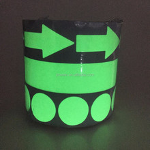 eco friendly photoluminescent luminous vinyl glow in the dark grip tape die cut dots sticker