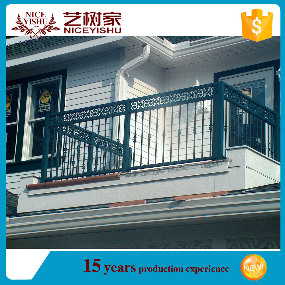 2016 modern wrought iron balcony grill designs terrace for Balcony safety grill designs