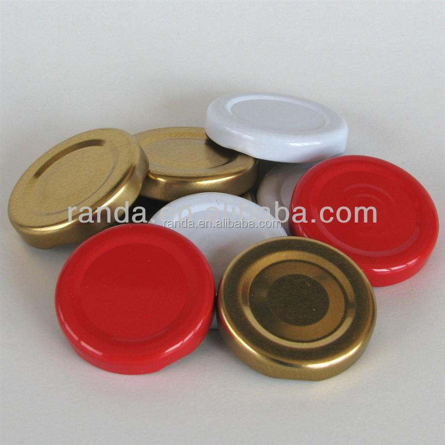 DR8 DR9 Tinplate Metal Twist Off Cap for Bottle Canned Food