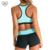 Womens sports bra  activewear compression running top