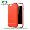 New soft TPU material with brushed pattern finish transparent anti-friction for iphone 6 plus case 2016