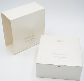 Customized Logo Facial Machine White Paper Packing Box Cosmetic Box Packaging