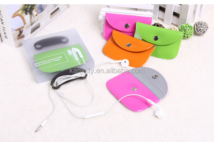 PVC earphone pouch or earphone case