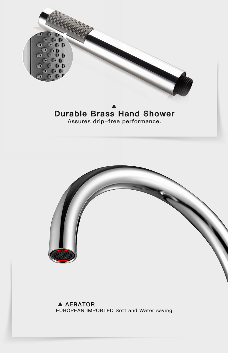 Contemporary Round Base Freestanding Tub Filler Floor Mounted Bathtub Faucet Hotel Bathroom Bath Tub Faucet with hand shower