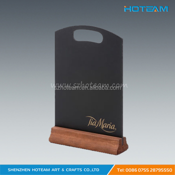 wooden base restaurant menu table tent with black board buy wooden