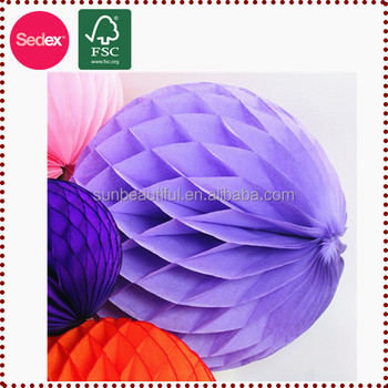 Honeycomb Tissue Paper Ball Handmade Crafts For Home Decor Buy - home decor crafts with paper