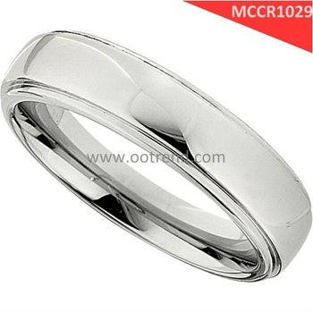 Low cost 6mm width Timeless design man cobalt chrome rings with bright polishing rhodium surface