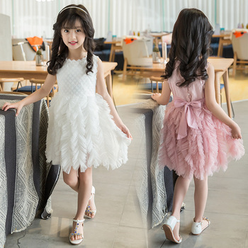 B4243 New Birthday party girl dress for girls clothes kids dresses Summer  2017 Formal wear Wedding c8d611d7f8a2