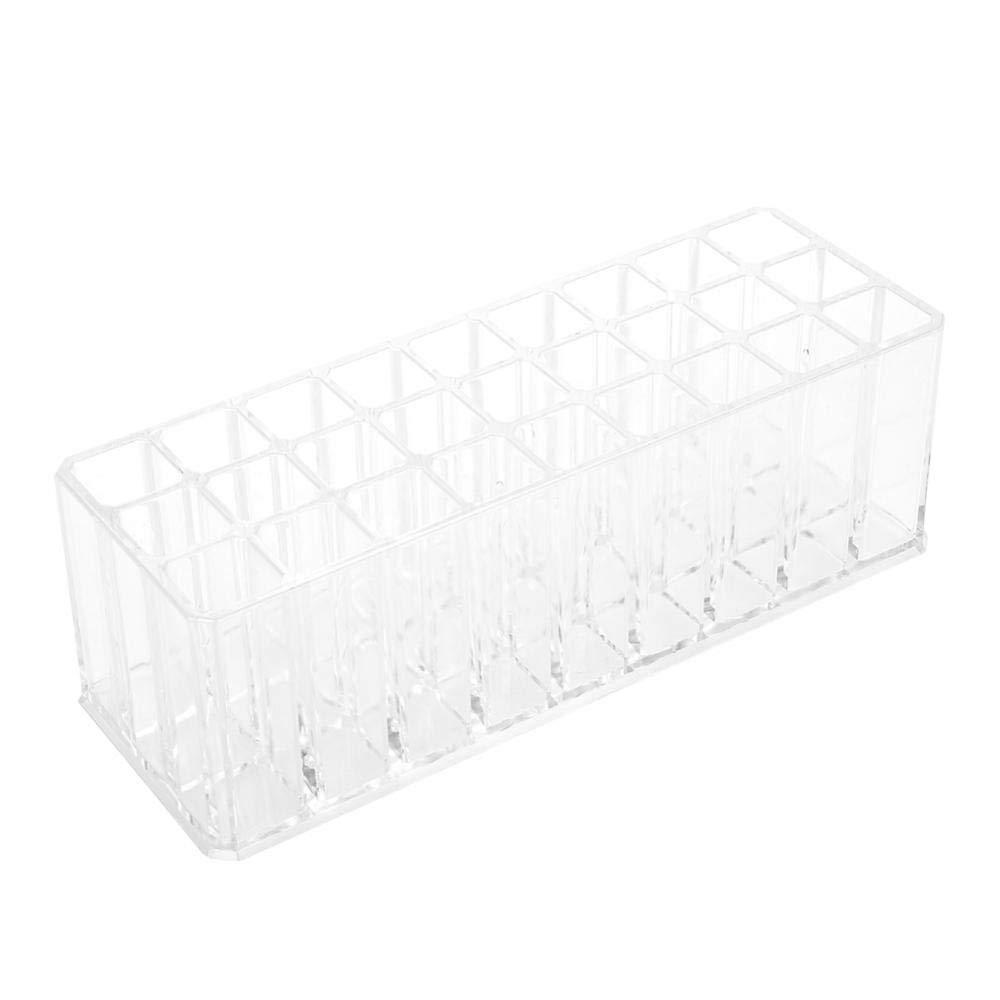 Lipstick Organizer, Blush Organizer 24 Grid Cosmetic Storage Box Cosmetic Case Nail Brush Container Makeup Display Organizer Case