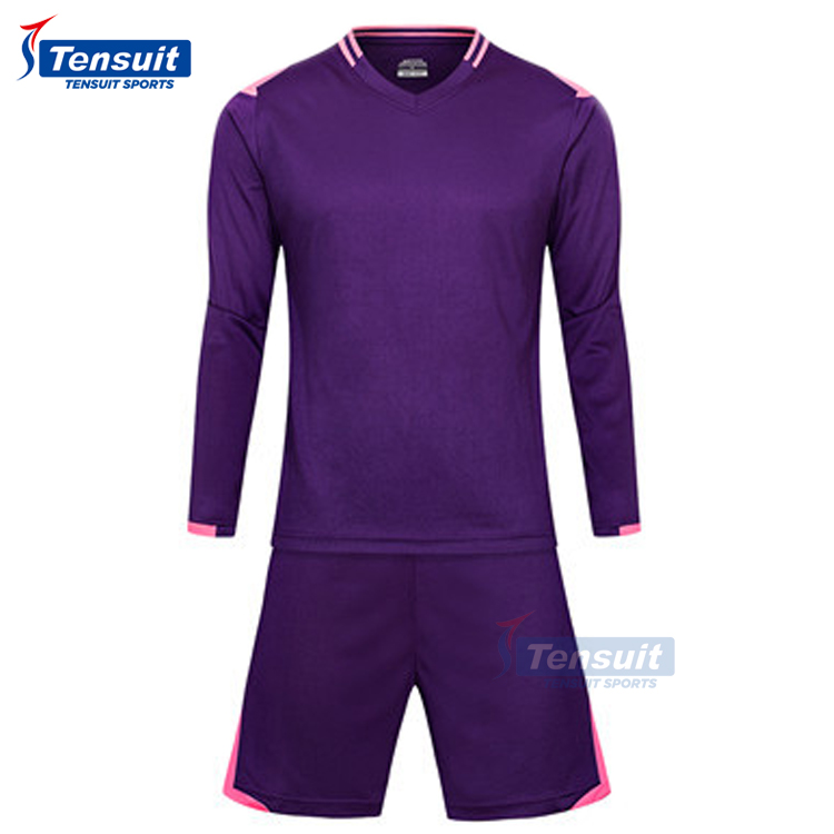 Long sleeve soccer jersey stock items blank football jersey accept putting own logo custom soccer jersey