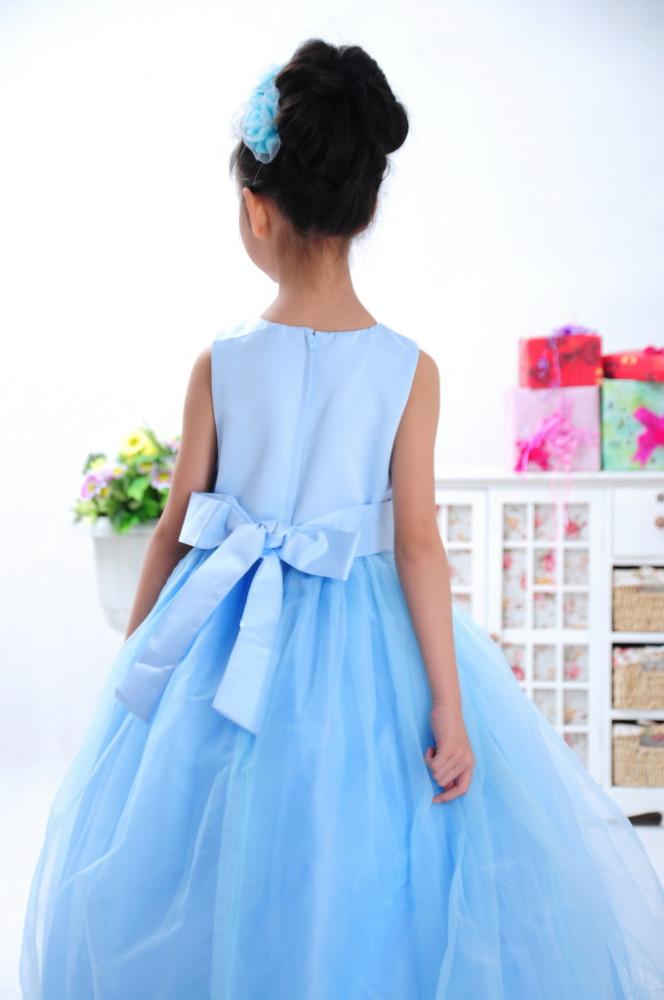 df819039ddd7 Belle vente chaude longue princesse fleur fille Robe bébé fille robe ...