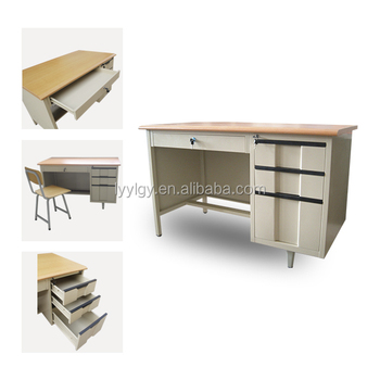 Cheap 2 Person Steel Computer Desk Table/modern Fashion Stainless Steel  Office Desk