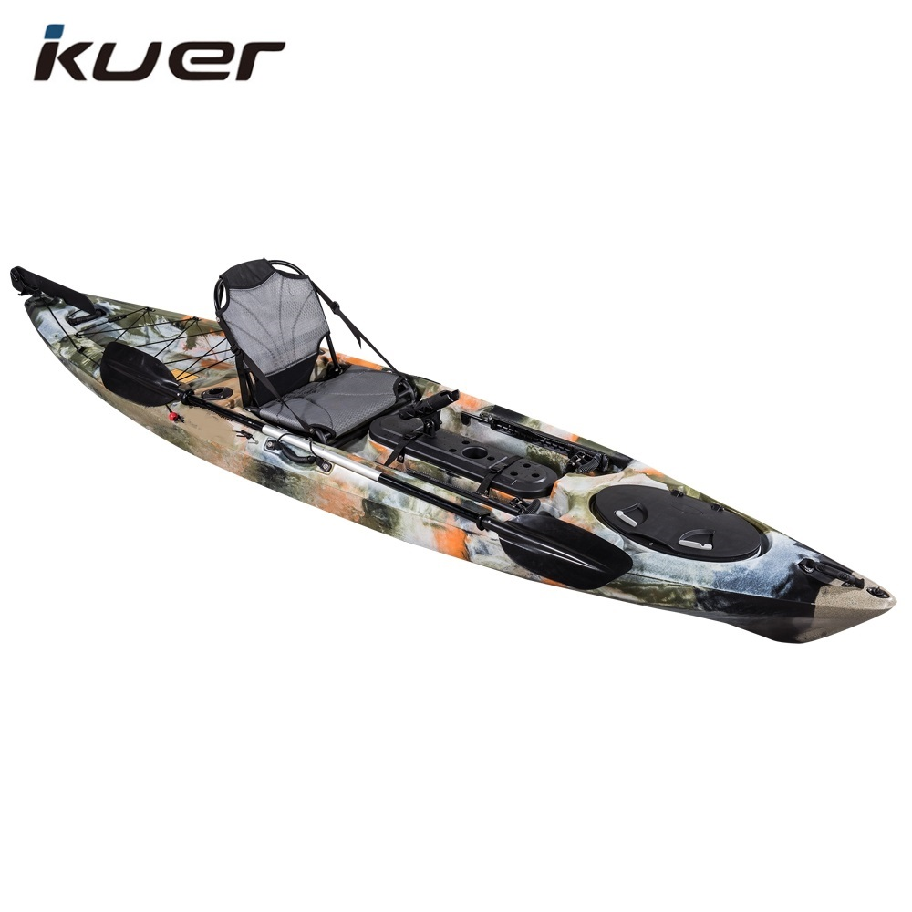 12ft rotomolded kayak fishing kayak with pedal and aluminum seat
