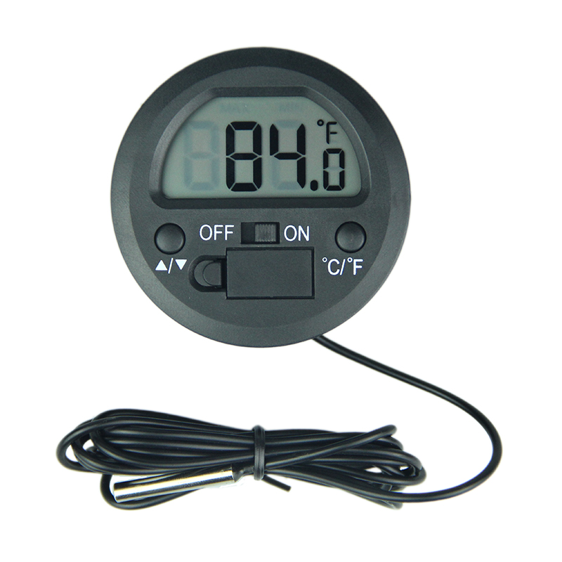 Small size Round Shape Mini  Panel Thermometer Digital thermometer Lcd Digital Pet Reptile