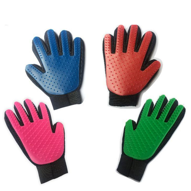 Amazon Hot Sell Pet Dog Grooming Massage Gloves Dog Cats Cleaning Bath Tools