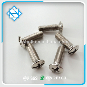 Wholesale Stainless Steel Screw DIN EN ISO 7047 Cross Recessed Countersunk Raised Head Machine Screw