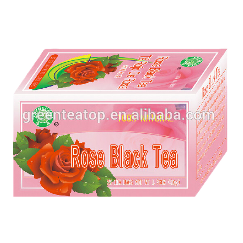 customized tea bags for flavored dried anti-radiation detox organic rose black tea - 4uTea | 4uTea.com