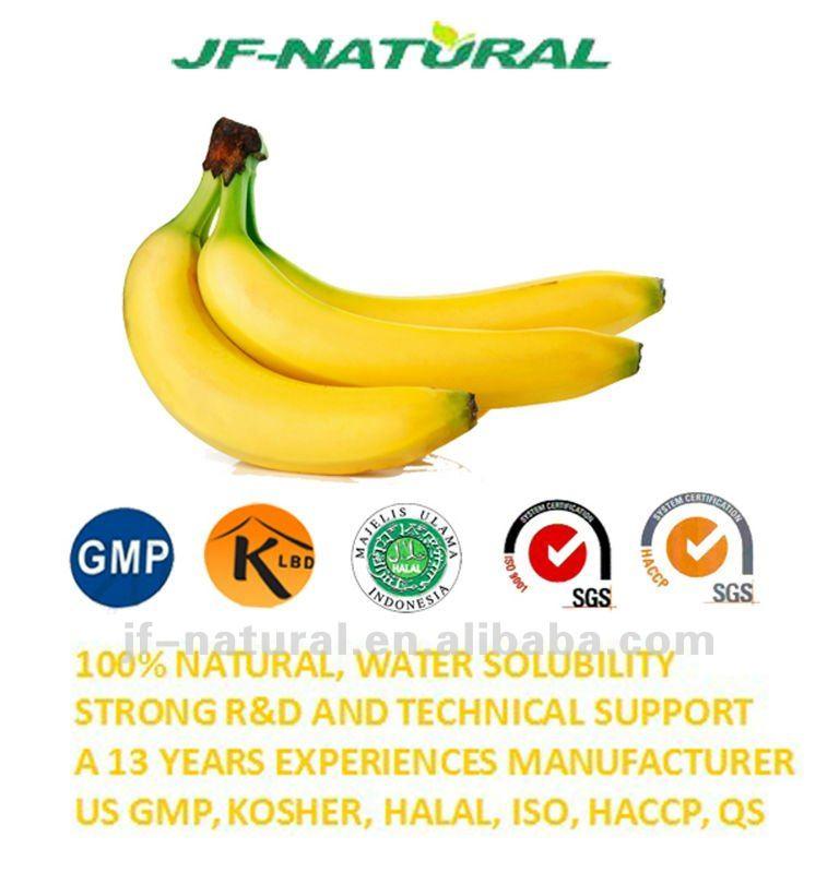 Puré de plátano en polvo fabricación ISO, GMP, HACCP, KOSHER ...