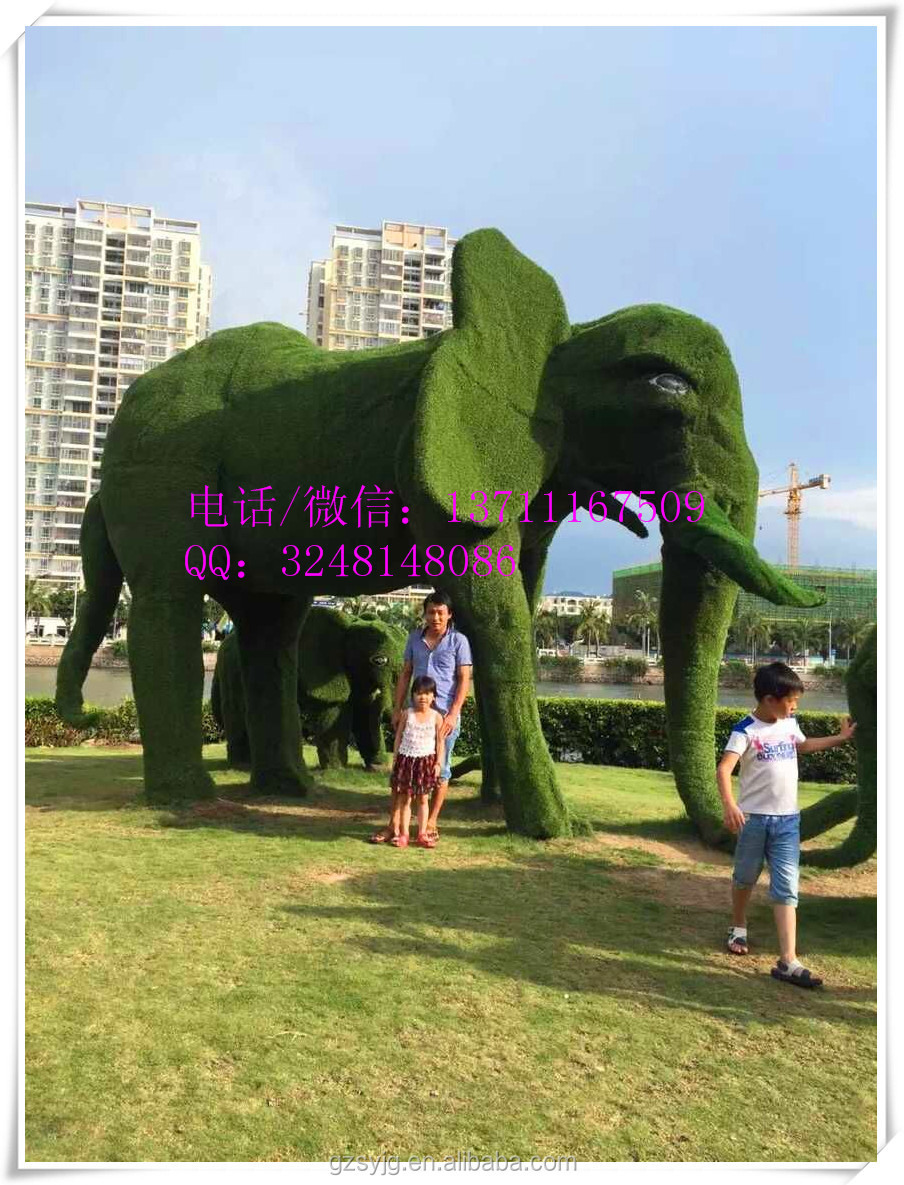 Grandes animales de alambre topiario artificiales para la for Decoracion jardin artificial