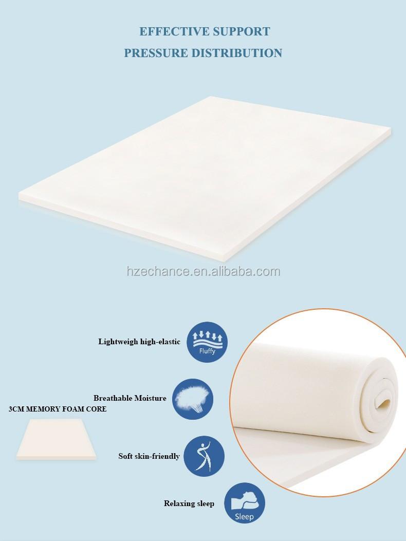 memory foam mattress topper packaging. 40 Density Memory Foam Mattress Topper With Bamboo Cover Vacuum Pack Packaging