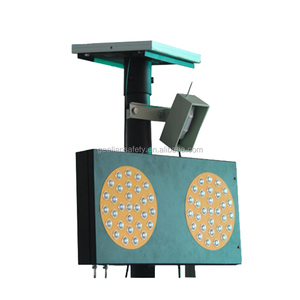 High quality four direction solar powered temporary led traffic signal light
