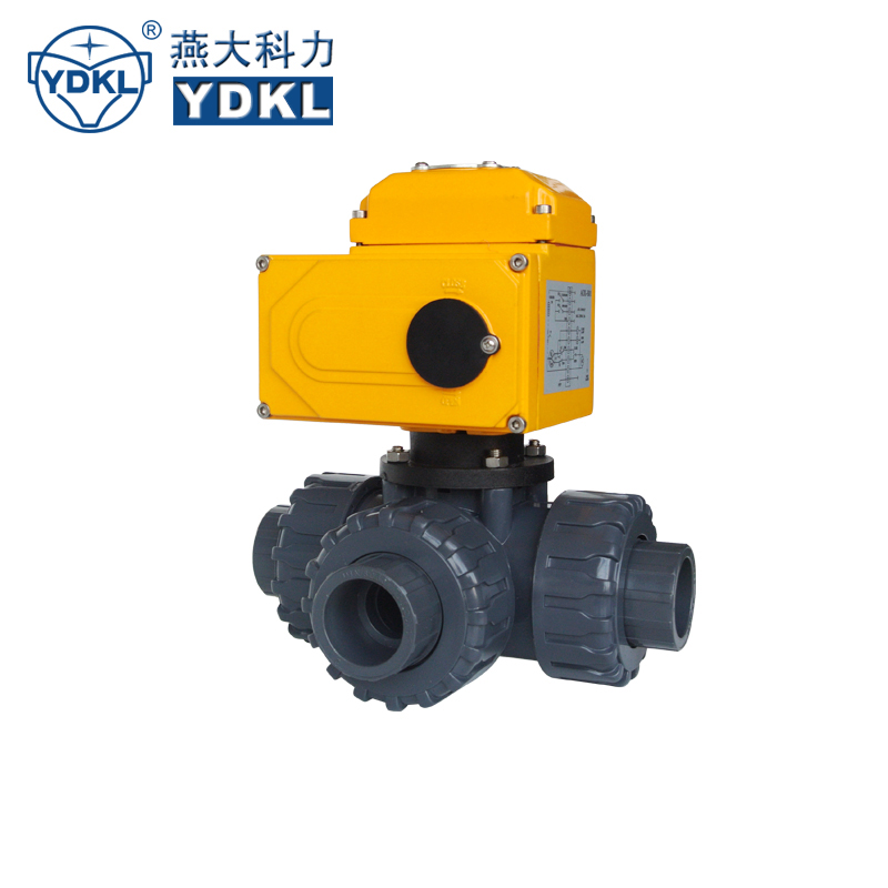 YDKL 3 way pcv rotary valve with electric