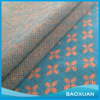 43 Polyester 54 rayon 3 spandex spun solid flowers jacquard fabric manufacturer in knitted dobby fabric for garment