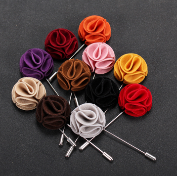 Newest Flower Lapel Pin Metal Brooch Pin Crafts for Men