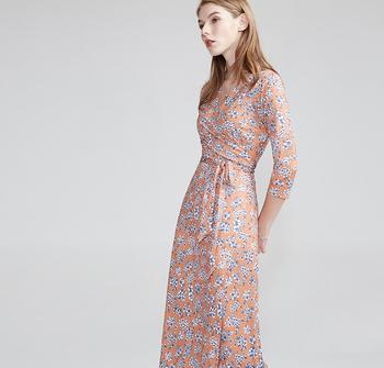 43edc3d05ba Latest flower print maxi dress summer autumn girls casual wear V neck long  sleeve XXX L