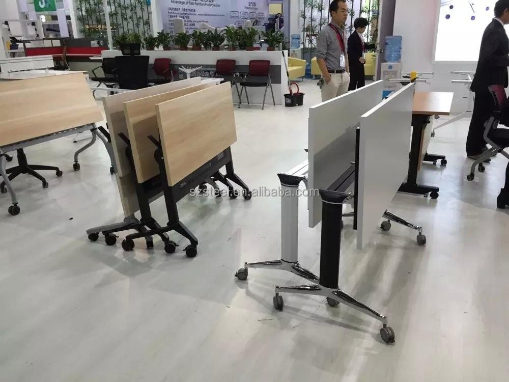 Scrivania Ufficio In Metallo : Nuovo design ufficio scrivania pieghevole metallo tavolo pieghevole