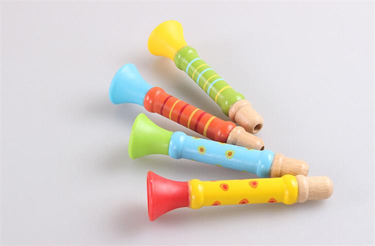 FQ gloednieuwe houten speelgoed fluit populaire gelukkig fluit fluit muziekinstrument