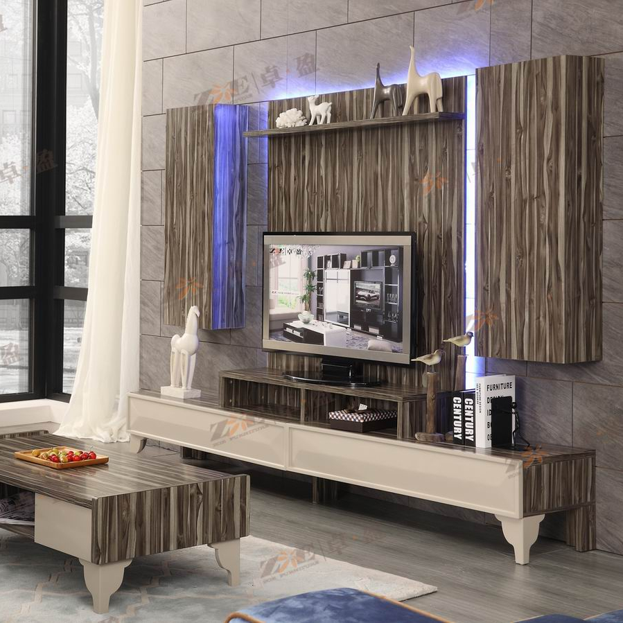 Modern Tv Furniture Led Stand Design Pictures With Lighting Wooden
