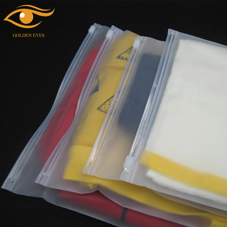 APPAREL Industrial Use and Suit Use Plastic zipper bag frosted  clothing bags