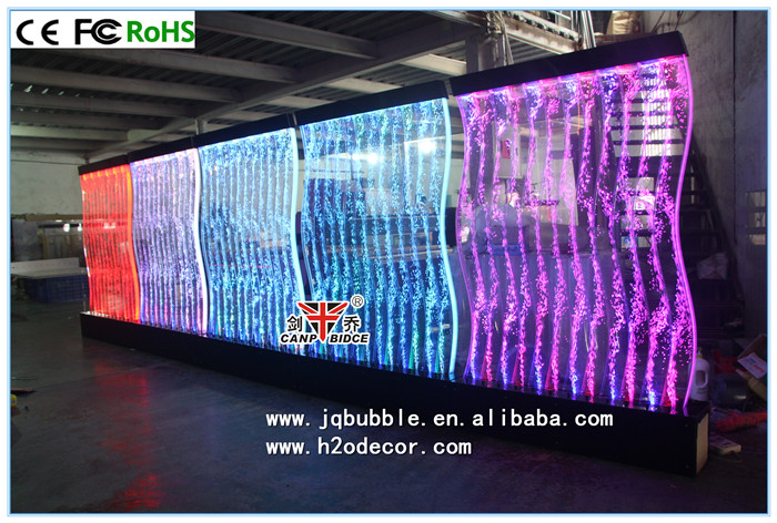 cafe restaurant interior design freestanding led bubble wall panel