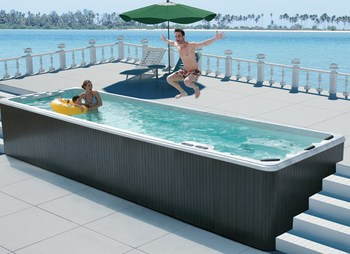 Monalisa above ground rectangular portable fiberglass for Fiberglass pools above ground