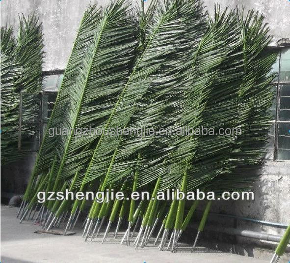 Q122806 dried palm leaves cheap palm leaves roof China supplier artificial palm tree leaves