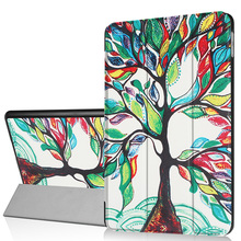 Colored Tree Leather Smart Stand Flip Cover tablet case For iPad mini 2 3 4 Air 1 Pro 7.9 12.9