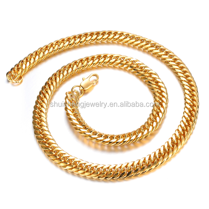 China online shopping wholesale latest cool 24k gold chain ...