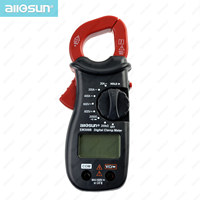 Allosun Handheld clamp meter digital AC DC Volt AC Amp OHM LCD Audible Diode Tester Portable Handheld Clamp Multimeter