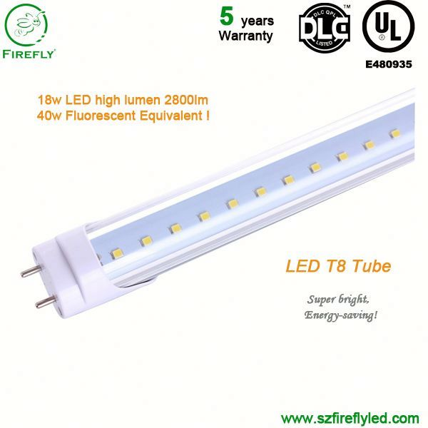 160 Lm/w 40w Equivalent Firefly T8 Led Tube Light 5 Years Warranty ...