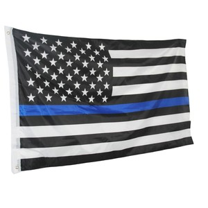 Thin Blue Line American Flag Honoring our Men and Women of Law Enforcement Grommet 90*150cm