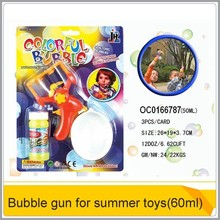 Hot summer bubble gun(60ml) for outdoor game promotion gift OC0166787