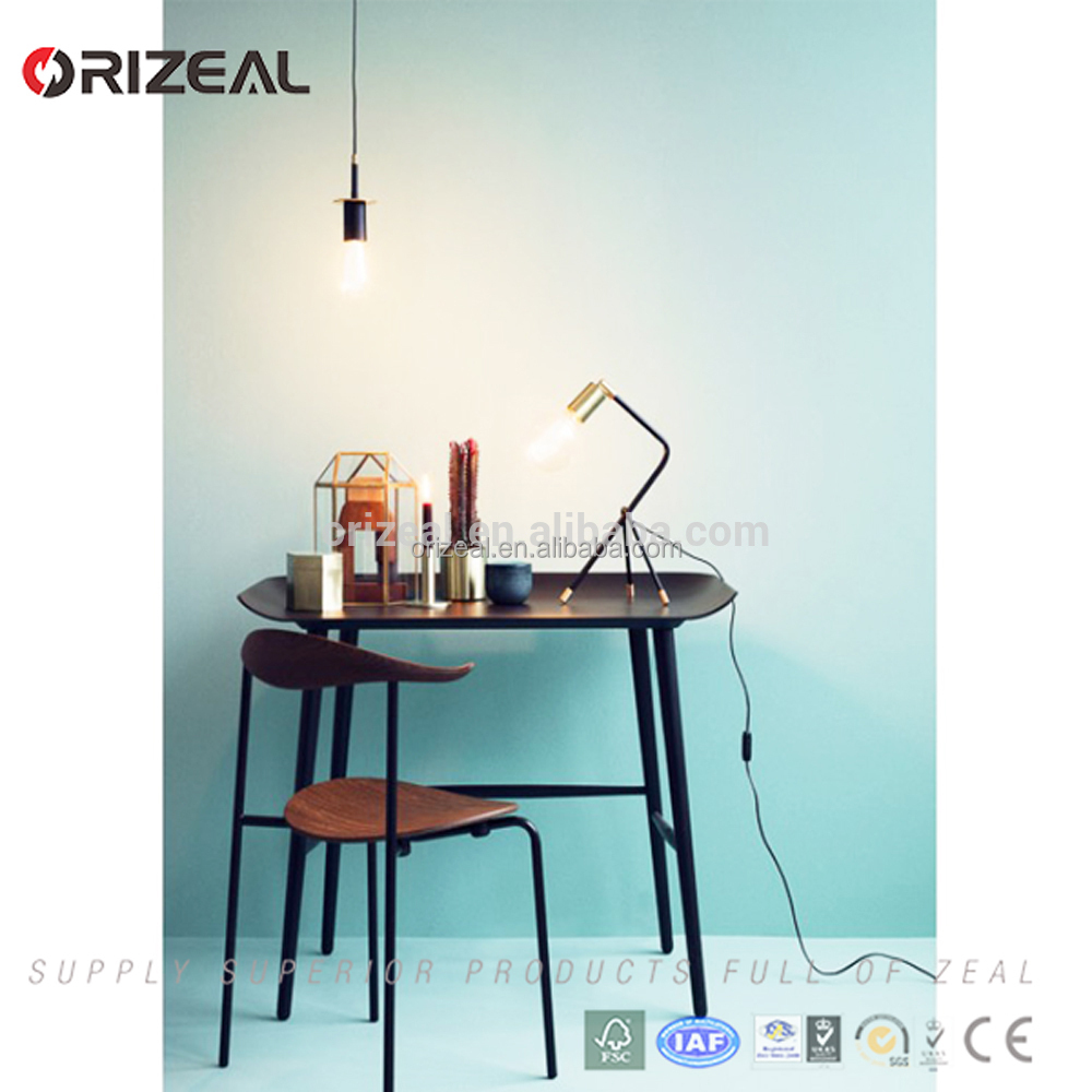 industrial style black metal Table Lamp Vintage for study room