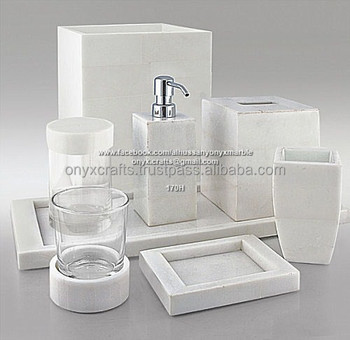 White Marble Bathroom Accessories Buy Bathroom Accessory Sets