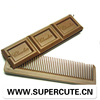 Low price High quality ABS dark brown Chocolate switchblade comb