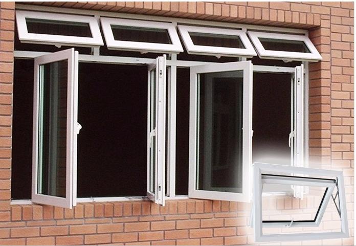Aluminum Window Single Hung Window Roto Hardware Top Hung