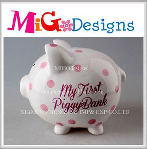 Wholesale Manufacture OEM! Antique coin banks ceramic piggy bank